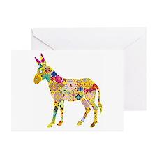 Greeting Cards (Pk of 20) - Flower Donkey