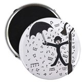 "'Singing in the Rain' 2.25"" Magnet (10 pack)"