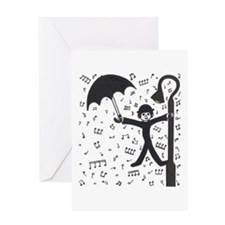 'Singing in the Rain' Greeting Card