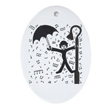 'Singing in the Rain' Ornament (Oval)