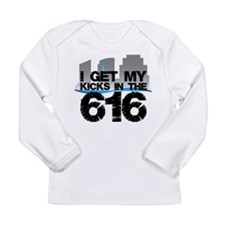 Kicks in the 616 Long Sleeve Infant T-Shirt