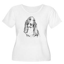 Basset Hound drawing T-Shirt
