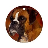 BOXER PROFILE Ornament (Round)