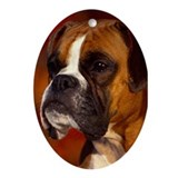 BOXER PROFILE Ornament (Oval)