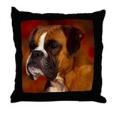 BOXER PROFILE Throw Pillow