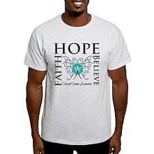 Hope Faith Cervical Cancer T-Shirt