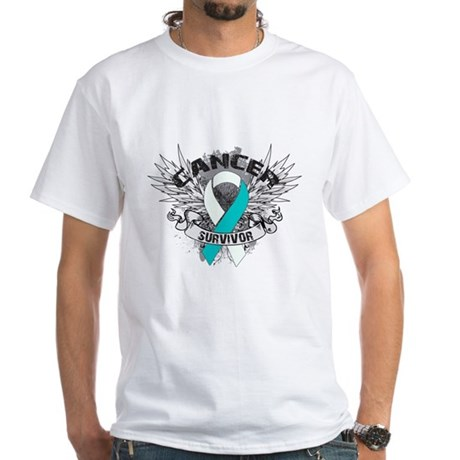 Survivor - Cervical Cancer White T-Shirt