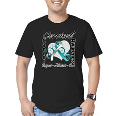 Cervical Cancer Awareness Men's Fitted T-Shirt (da