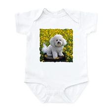 BICHON YELLOW FLOWER FIELD Infant Bodysuit