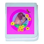 Mini Wirehaired Dachshund baby blanket