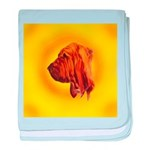 Beautiful Bloodhound Head stu baby blanket