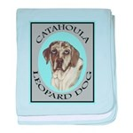 Catahoula Leopard Dog baby blanket