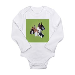2 Boxers and a Boston Long Sleeve Infant Bodysuit