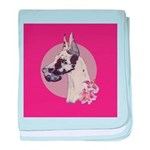 A lovely Harlequin Great Dane baby blanket