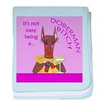 Red Doberman Bitch baby blanket