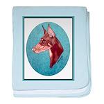 Red Doberman Pinscher baby blanket