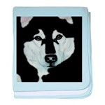 Malamute Black & White baby blanket