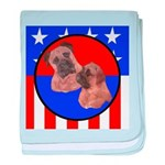 Bull Mastiff Mom & Puppy baby blanket