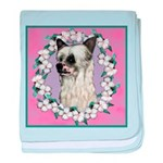 Powder Puff Chinese Crested baby blanket