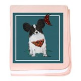 Papillion baby blanket