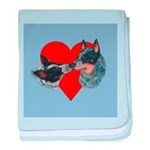 Australian Cattle Dog Kiss baby blanket