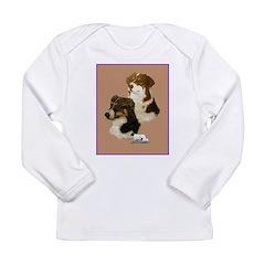 Australian Shepherd Pair Long Sleeve Infant T-Shir