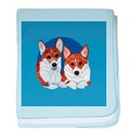 A Corgi Couple baby blanket