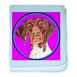 German Shorthair Pointer Head baby blanket