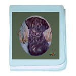 Flat Coated Retriever baby blanket