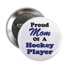 Mom Hockey Player Button