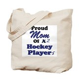 Mom 2 Hockey Players Tote Bag