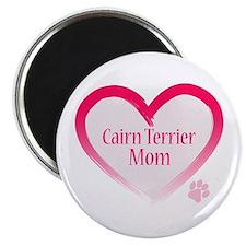 Cairn Terrier Pink Heart Magnet