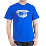 NSU logo Black T-Shirt