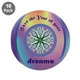 "Unique Support the arts 3.5"" Button (10 pack)"