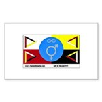 Humanbeingflag Sticker (Rectangle 10 pk)