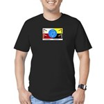 Humanbeingflag Men's Fitted T-Shirt (dark)