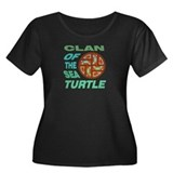 Turtle Clan Women's Plus Size Scoop Neck Dark T-Sh