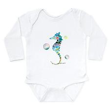 Seahorse Long Sleeve Infant Bodysuit