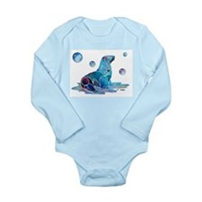 Sea Lion Art Long Sleeve Infant Bodysuit