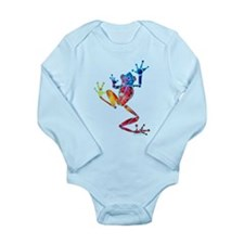 Whimsical Colors Tree Frog Long Sleeve Infant Body