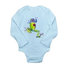 Frog Spring Green Long Sleeve Infant Bodysuit