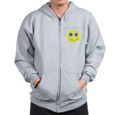 Vintage Angel Smiley Zip Hoodie