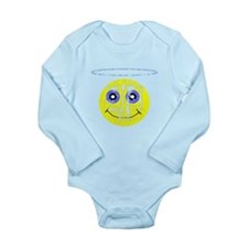 Vintage Angel Smiley Long Sleeve Infant Bodysuit