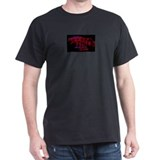 showjumping black tshirt with red horse