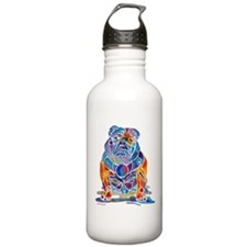 Whimsical English Bulldog Water Bottle