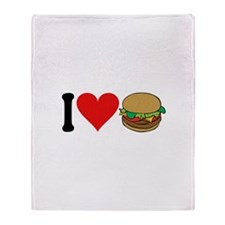 I Love Hamburgers (design) Throw Blanket