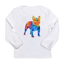 Whimsical French Bulldog Long Sleeve Infant T-Shir
