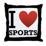 I Love Sports Throw Pillow