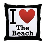 I Love the Beach Throw Pillow