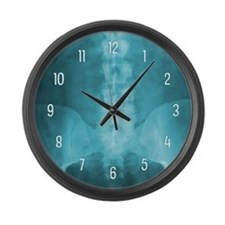 Blue Digital X-Ray Art Large Wall Clock